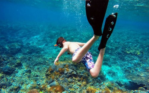 Grottoes and snorkeling